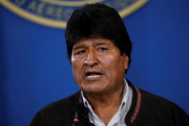Evo critica uso de militares por el gobierno de Bolivia