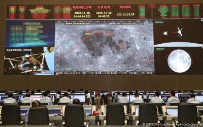Sonda china logró posarse sobre la superficie de la Luna