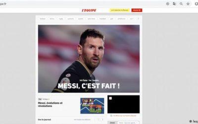 Messi y el PSG llegan a un acuerdo, según L'Equipe