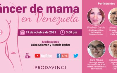 Prodavinci invita a la videoconferencia «Cáncer de mama en Venezuela»